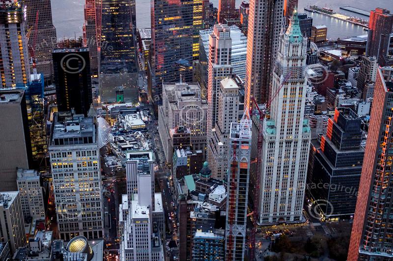 Aerial photo of Manhattan, New York City.