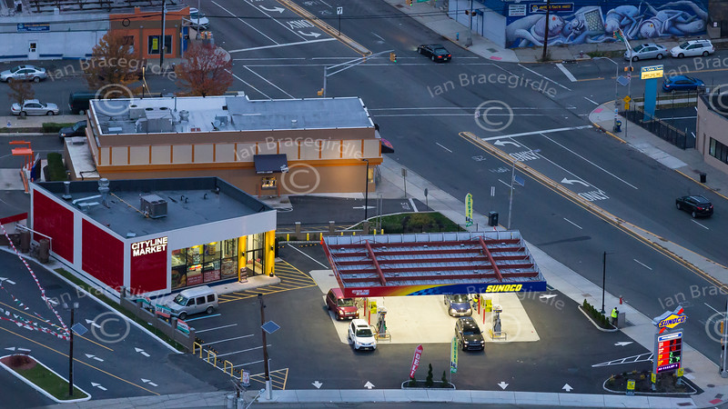 Aerial photo of Cityline Market in New Jersey.