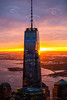 Aerial photo of One World Trade Center in New York.