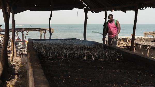 Smoking Fish at  Tanji - The Gambia 2020