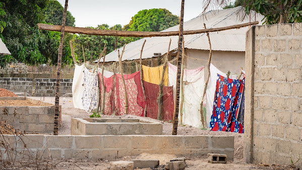 Colours hanging in the yard - The Gambia 2020