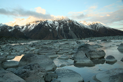 The evening at our Mt Cook accommodation