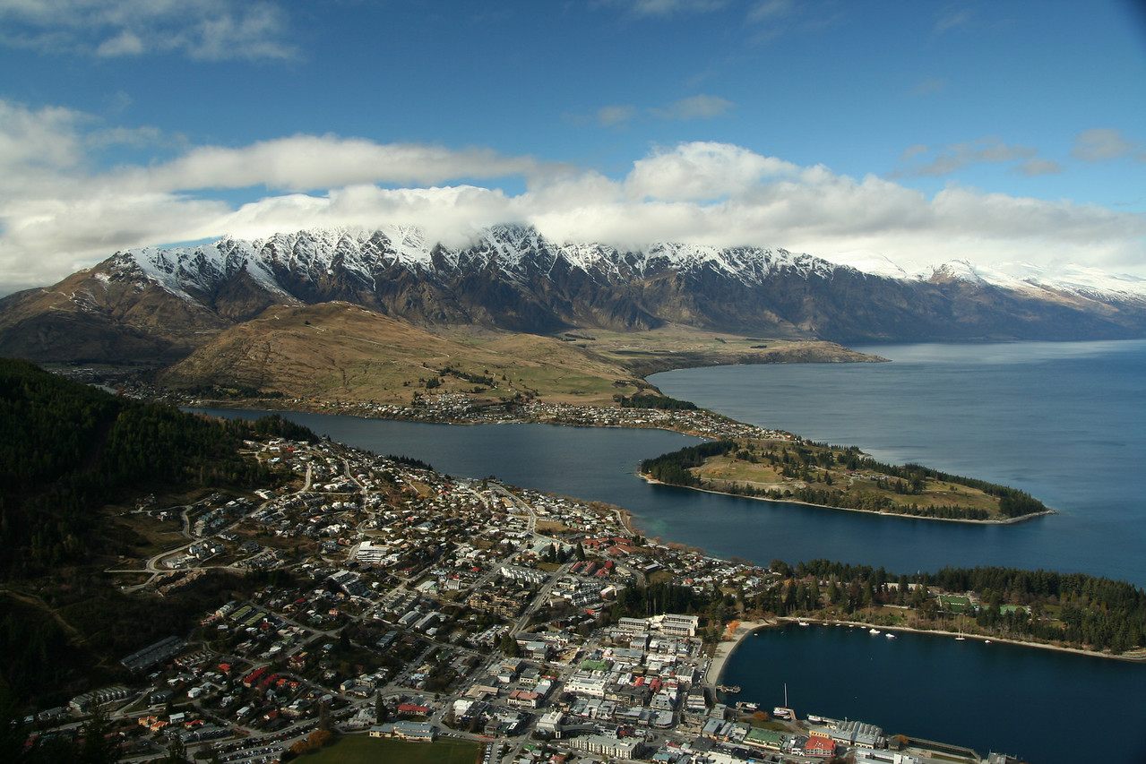 The view over Queenstown