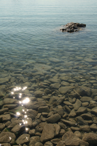 Looking into Lake Tekapo
