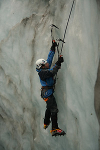 Stacey Ice Climbing on Fox Glacier