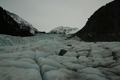 Standing on Fox Glacier