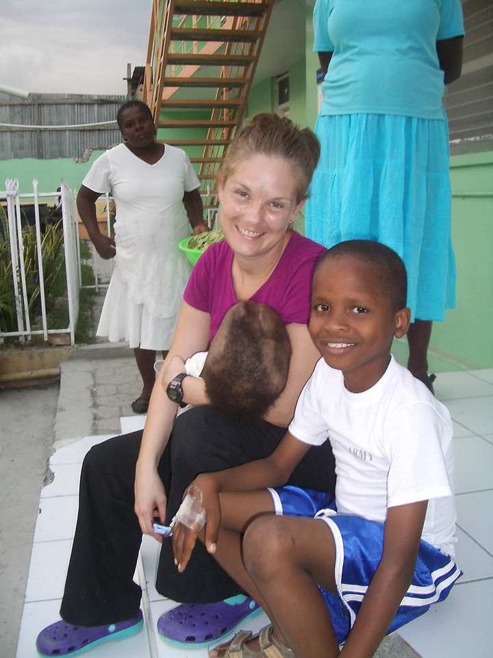 Jen. Amazingly she was there for a month. With one of our chronic hydrocephalus kids.