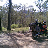 Taking a short break (Mt Buggery Road).