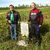 Memorial for lost Biker, near Svobodny, Amur Region, Russia, with our friend Sergei.