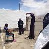 Spinning wool Karakul Tajikstan.