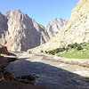 "Pamir Hwy Tadjikistan, the other side of River is Afganistan (little ""gardens of Eden"")"