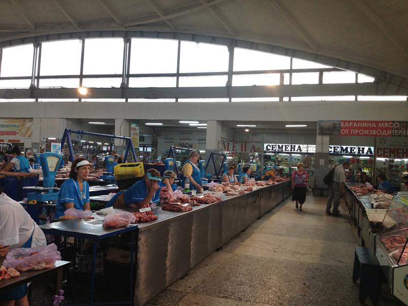 Meat Market, Barnual, Russia.