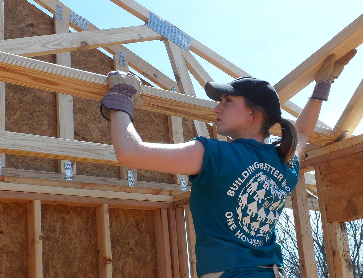 U.S. Builders: A University of Cincinnati student works in Sumter County, Georgia.