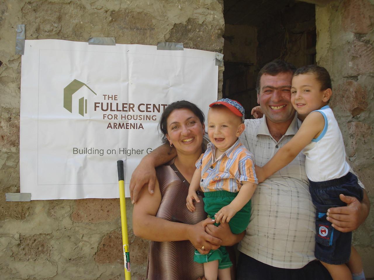 A homeowner partner family in Armenia — The Fuller Center's busiest international covenant partner.