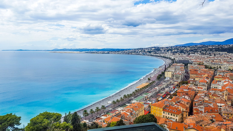 Old Town and the Promenade in Nice, France