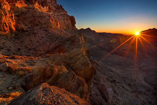 Titus Canyon, at dawn. Death Valley, CA