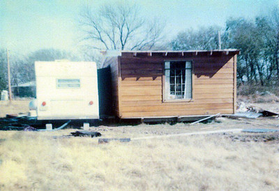 End view of House & Trailer on Land 1975