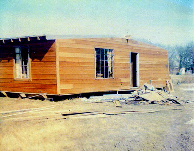 The House almost complete on the Land 1975