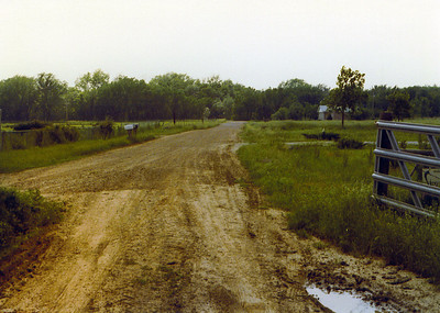 View looking away from gate on Land 1975