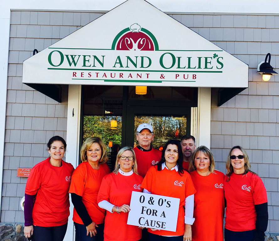 . O&O�s board � from left, Amie Cafferty of Tewksbury; Colleen Dubuc, O&O�s owners Mary Kay Gorman and Vice President Harry Gorman, and President Mary Ciccarelli, all of Dracut; Bill Rafferty of Lowell; Nancy Lyons of Groton; and Cheryl Allwood of Dracut (David McCarthy of Tyngsboro missing from photo)