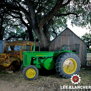 1951 John Deere Model R owned by Charles Klein of Stonewall, Texas.