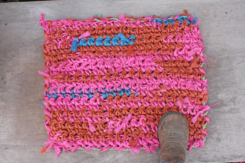 Baling Twine Mats - Recycled Repurposed Reclaimed and pretty much Indestructible!