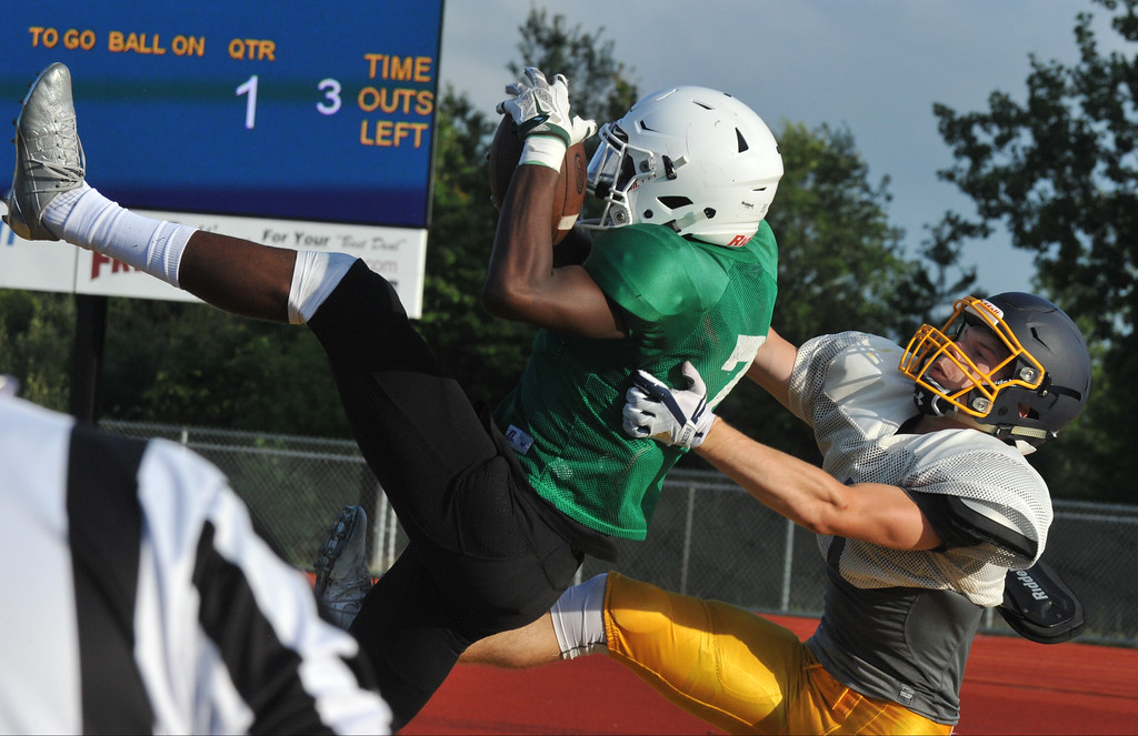 . The Oxford Wildcats hosted a four team scrimmage on Thursday August 17, 2017.  Novi, Port Huron, and Midland Dow participated in the round robin event.  All teams begin the regular season next week.  (Oakland Press photo by Ken Swart)
