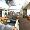 Relaxing in the American Airlines Admirals Club in PHL.