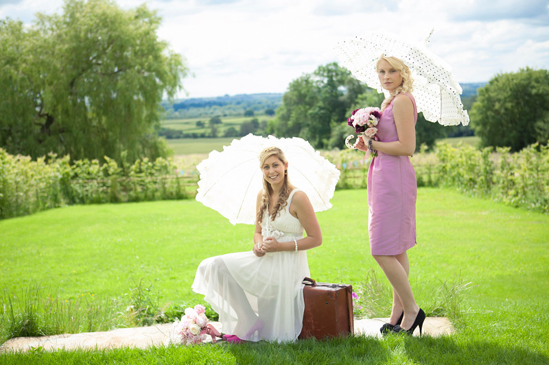 Bride and bridesmaid Merriscourt