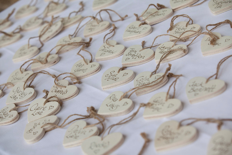 Novel table placings for wedding