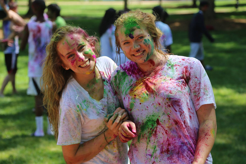 Colors on the Quad in celebration of Holi