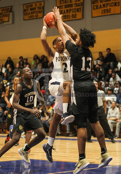 January 11, 2019: PG 3A/2A/1A HS boys basketball action between Oxon Hill HS and Potomac HS in Glassmanor. Photo by: Chris Thompkins/PGsportsfan