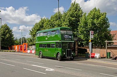 RT3232 stands outside Sainsbury's at Warlingham which occupies the site of the former Chelsham bus garage