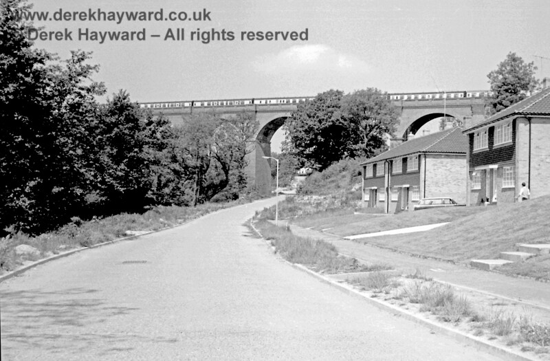 Coaching stock stored on Hill Place (or Imberhorne) Viaduct at East Grinstead in June 1969. Eric Kemp retains all rights to this image.
