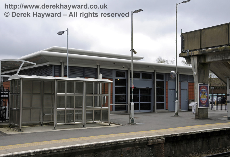 The Booking Hall, viewed from the platform side.  East Grinstead Station, Network Rail.  05.04.2014  10164