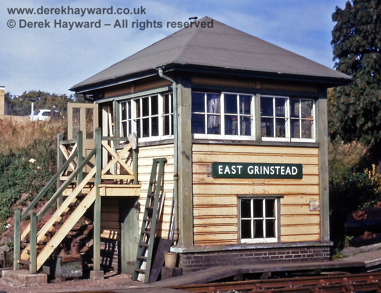 East Grinstead South signal box pictured on 18 October 1970 by Eric Kemp, who retains all rights to this image.