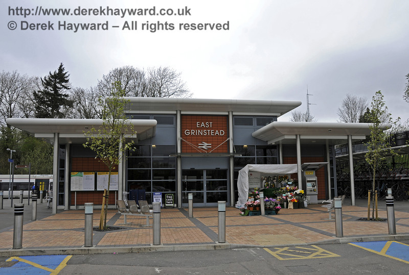 At the southern end of the line from Oxted and London is East Grinstead station.  This view shows the Booking Hall.  East Grinstead Station, Network Rail.  05.04.2014  10170