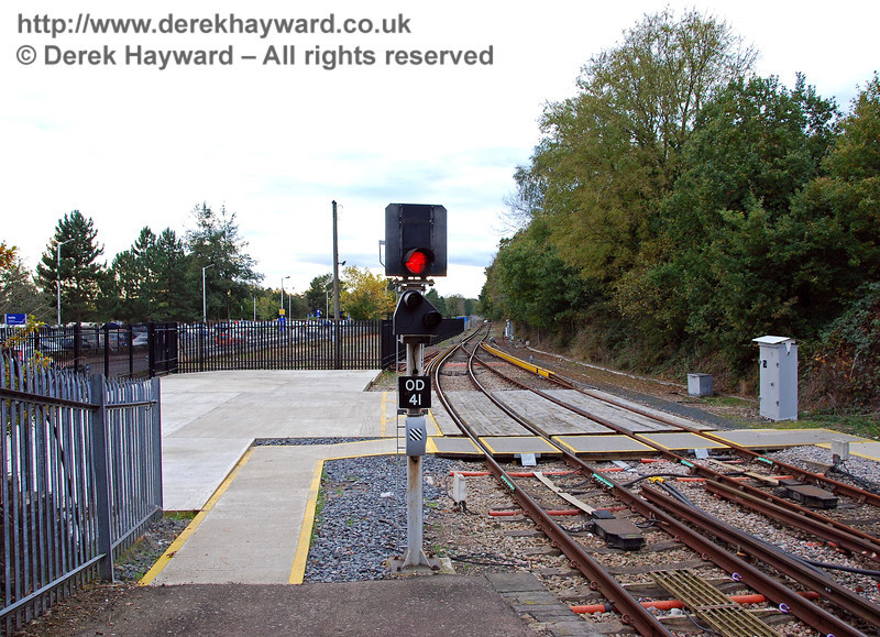 The same view on 18.10.2008, after work on the Bluebell station site had commenced. Nearest the camera is a Network Rail engineering access, and beyond the access the black fence encloses the Bluebell site.  0131