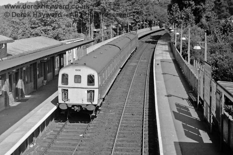 1306 on an Up train at Hurst Green, Sunday 13 07 1969 E