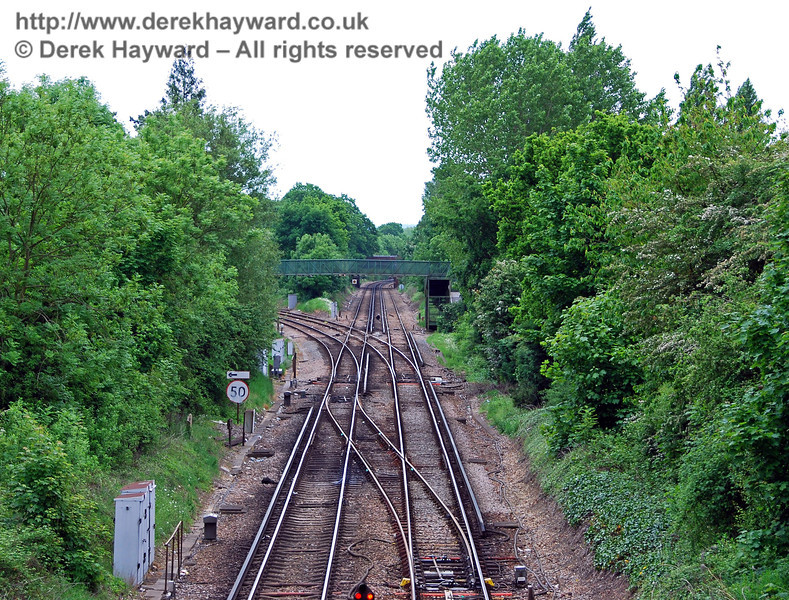 A close up view of Hurst Green Junction looking south from the road bridge. 18.05.2008