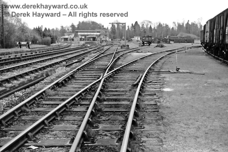 The reverse of the previous image, this is a general view of Lingfield from Park Farm crossing on 20 April 1969.  Eric Kemp retains all rights to this image.