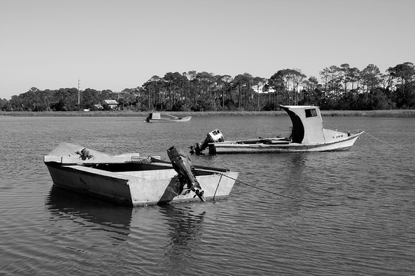 Oyster Skiffs at Saint George Island