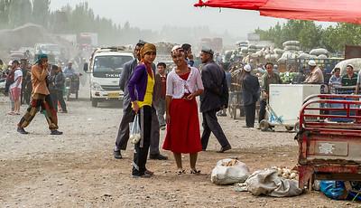 Le marché aux bestiaux de Kashgar