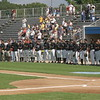 Potomac Cannons Line Up for National Anthem and Colors - Fan