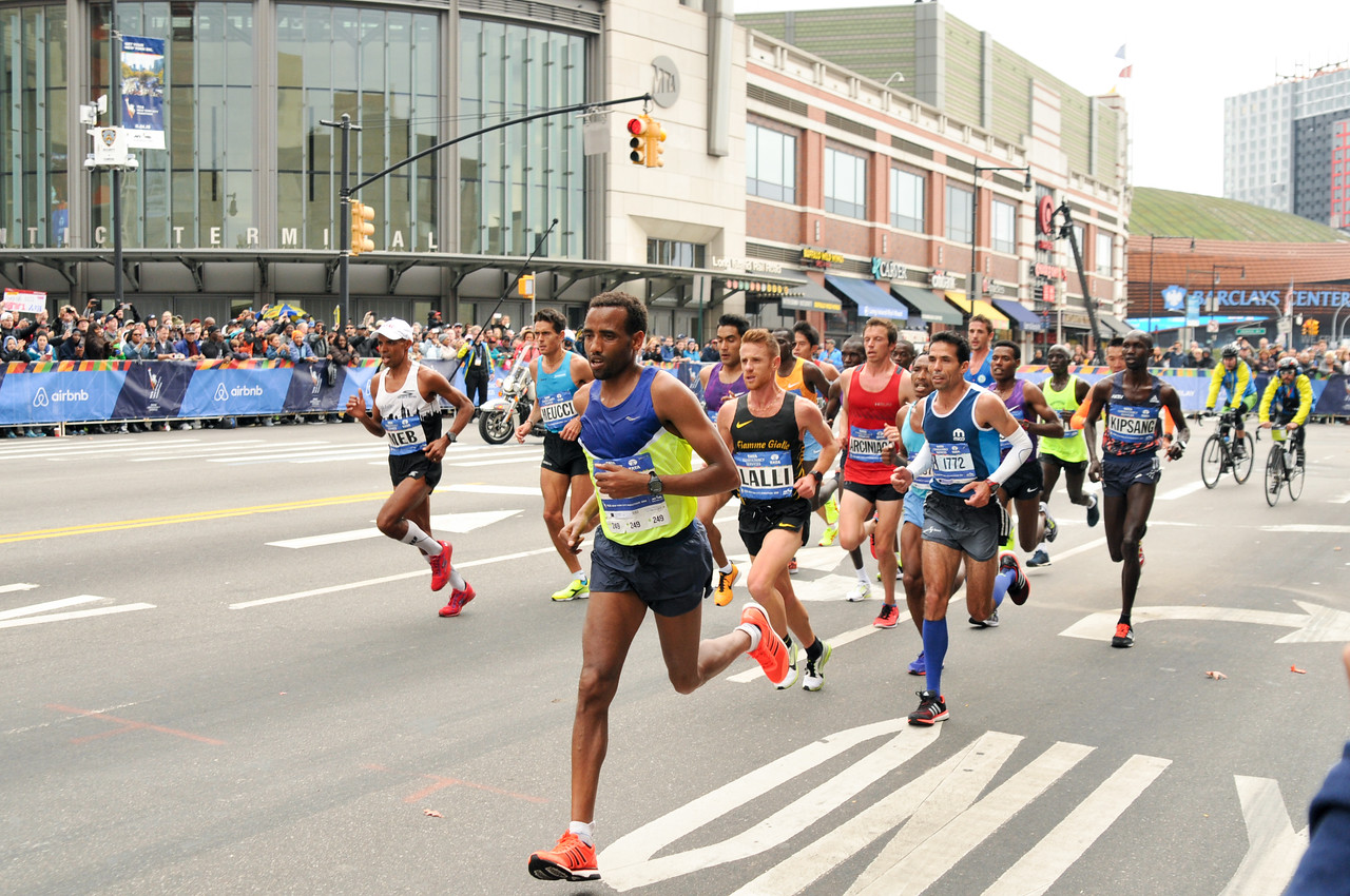 The 2015 TCS NYC Marathon, from mile 8 in Brooklyn.