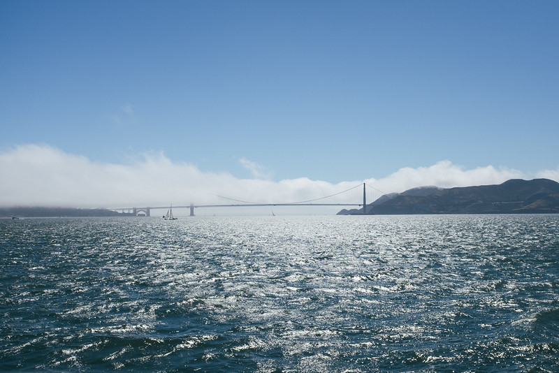 Taking the ferry from Sausalito to San Francisco.