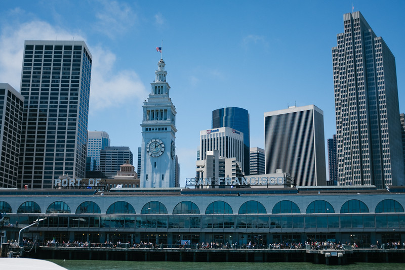 A ferry ride from the Port of San Francisco to Sausalito, CA.