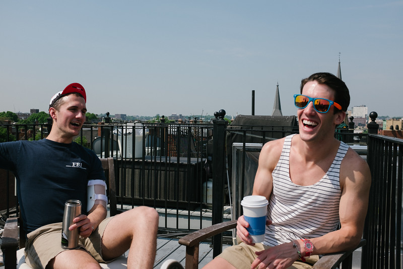 Rooftop laughs