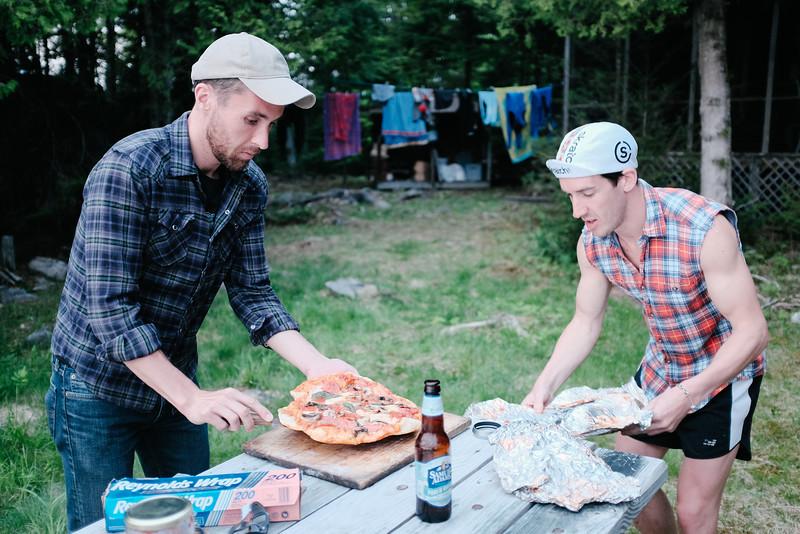 Bonfired pizza