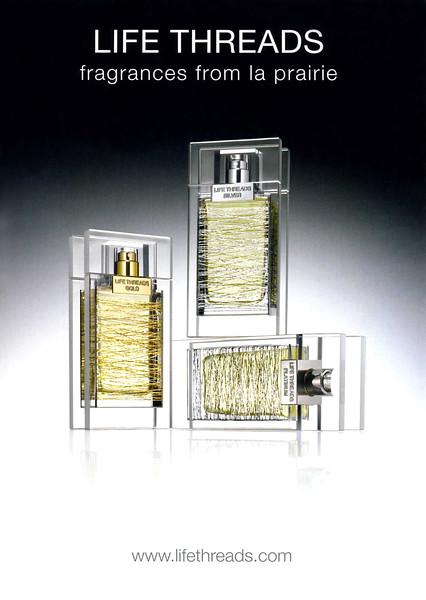 LA PRAIRIE Life Threads (Gold - Siver - Platinum) 2009 Andorra  'fragrances from la prairie'